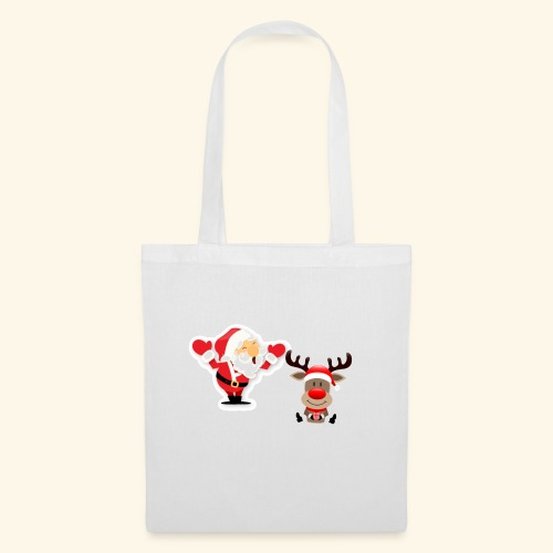 Santa and Rudolph - Tote Bag