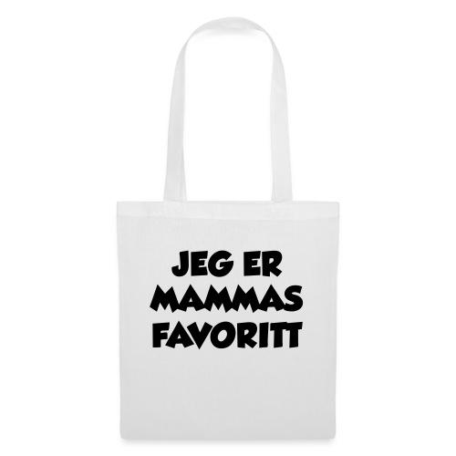 «Jeg er mammas favoritt» (fra Det norske plagg) - Stoffveske