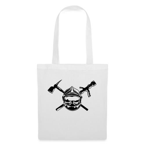 casque_pompier_hache et lance - Tote Bag