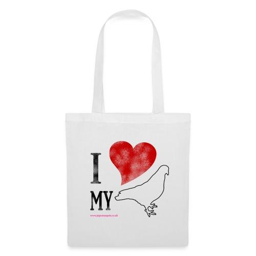 i love my pigeon - Tote Bag