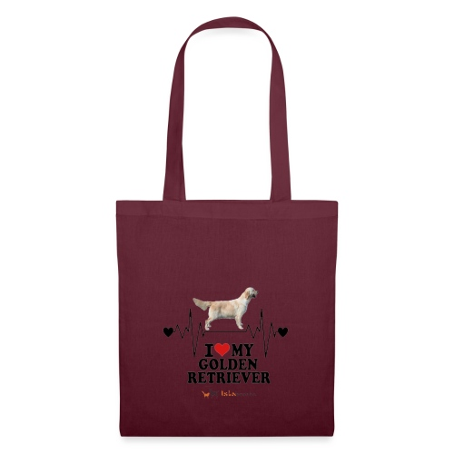 I love Golden Retriever - Borsa di stoffa