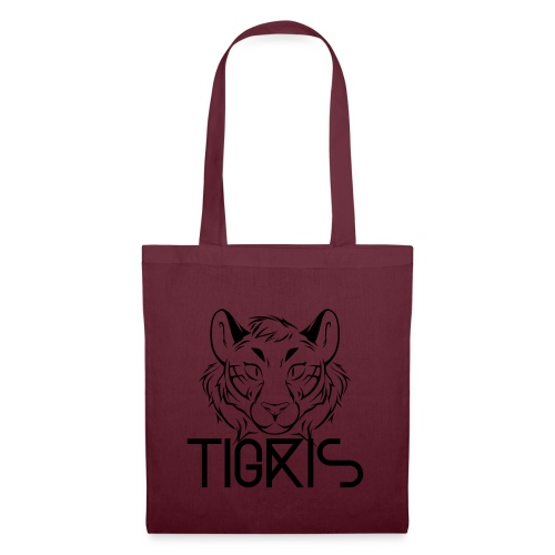 Tigris Logo Picture Text Black - Tote Bag