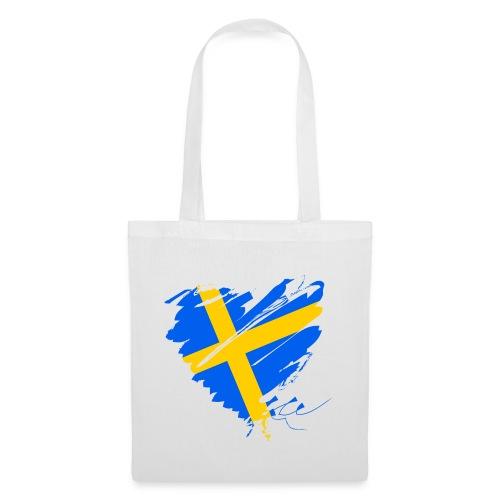 Schweden Skandinavien Europa Fahne Grunge Herz - Tote Bag