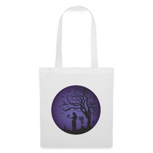 Halloween Silhouette Lila - Stoffbeutel