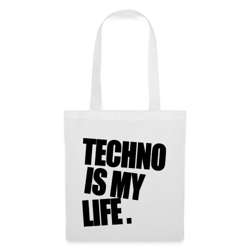 techno is my life 5 - Stoffbeutel