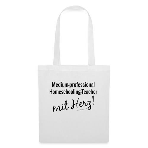 Homeschooling-Teacher schwarz - Stoffbeutel