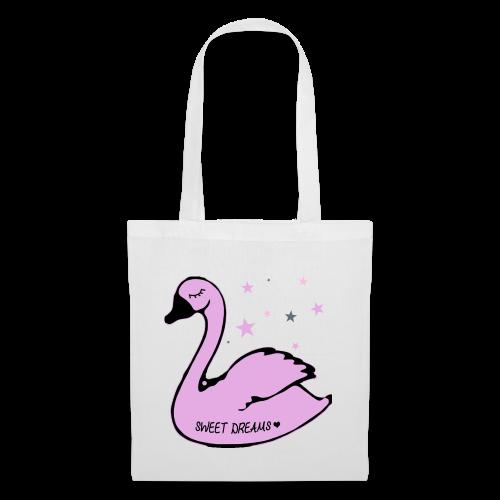 swan sweet dreams - Stoffbeutel