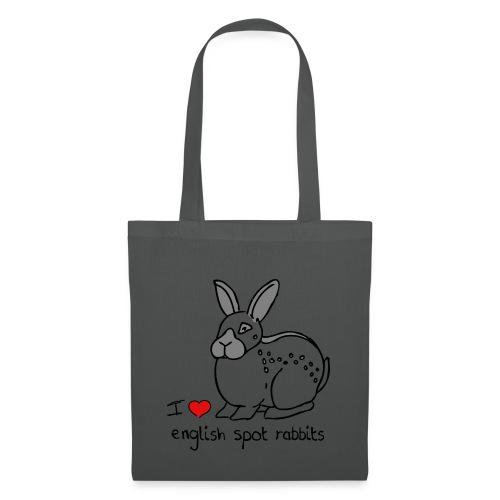 I Love English Spot Rabbits - Tote Bag