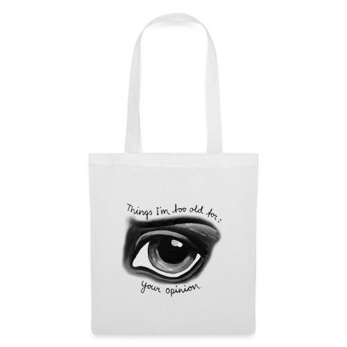 EyeOpinionBigTextNEW copy png - Tote Bag