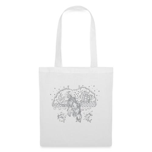 Skrimshaw Whale - Tote Bag