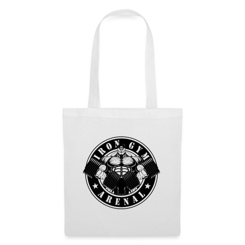 logo black 'the full-cutted stencil version' - Bolsa de tela