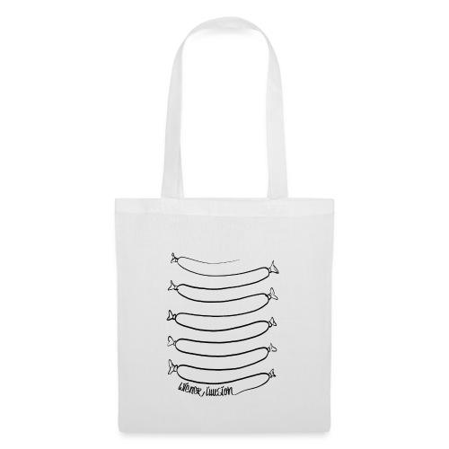 Wiener Illusion (schwarz auf weiß) - Stoffbeutel