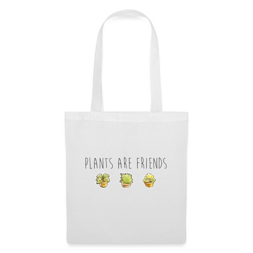 Plants are friends - Stoffbeutel