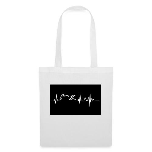 biker heartbeat - Bolsa de tela