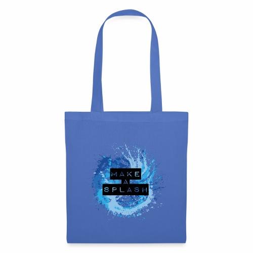 Make a Splash - Aquarell Design in Blau - Stoffbeutel