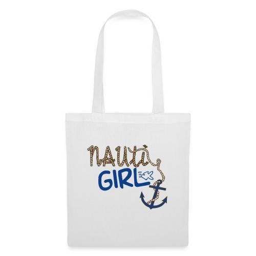 Nauti Girl Nautical Boat Shirt - Tote Bag