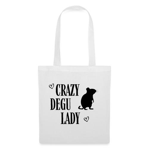 Crazy Degu Lady Geschenk für Deguhalterinnen - Stoffbeutel