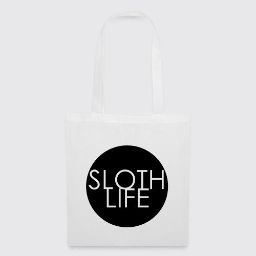 Sloth Life Logo trans bla - Tote Bag
