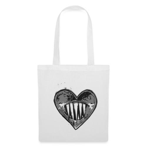 Corazón Negro - Bolsa de tela