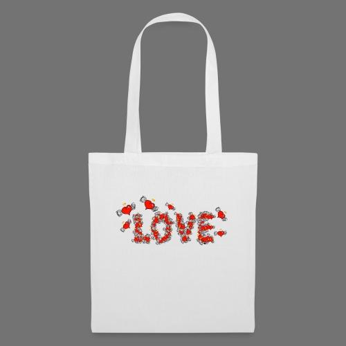 Latające miłości serc - Torba materiałowa