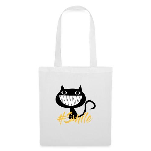 Katze Lachen, Cat Smile - Stoffbeutel