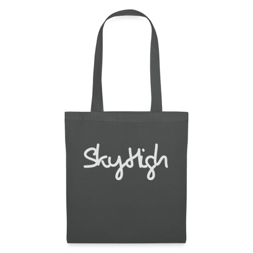 SkyHigh - Men's T-Shirt - Gray Lettering - Tote Bag