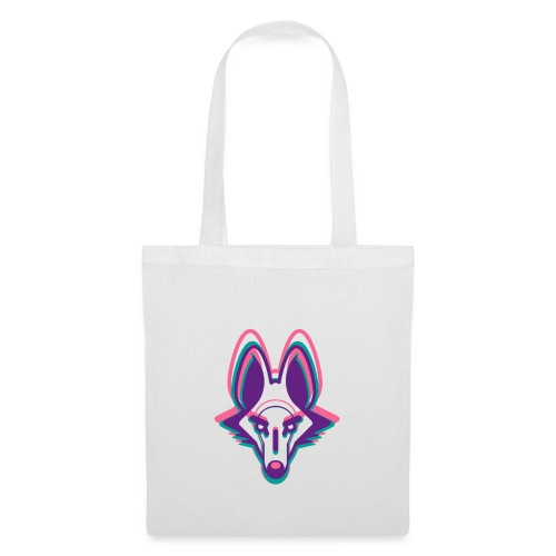 loup 3 couleurs - Tote Bag