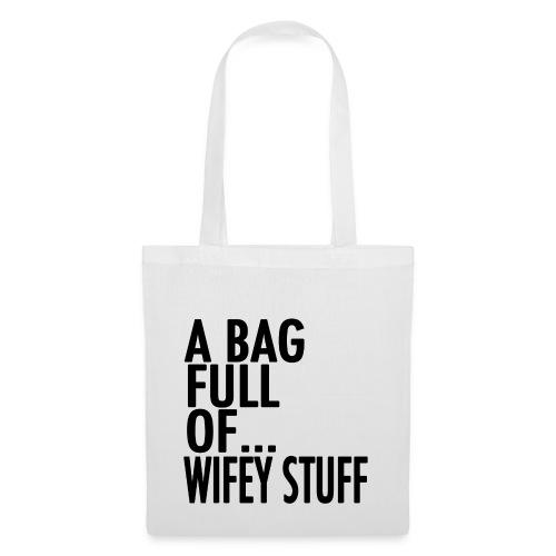 wifey stuff black png - Tote Bag