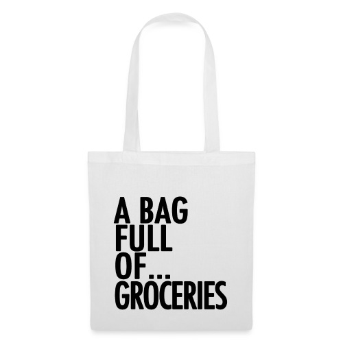 groceries black png - Tote Bag