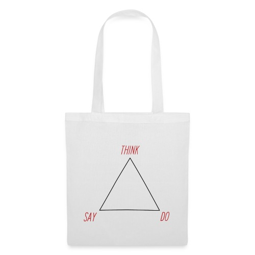 think do say white red black - Tote Bag