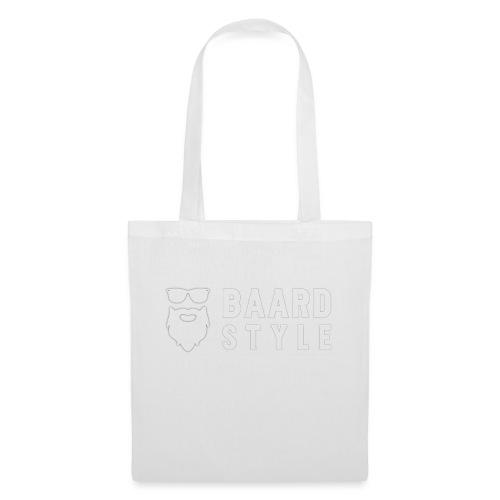 BaardStyle_1-white hoodie - Tas van stof