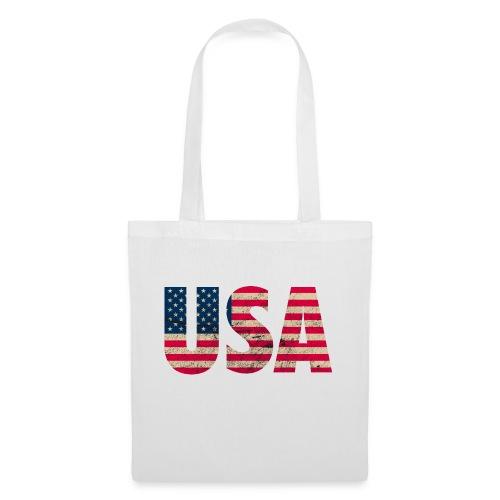 USA Amerika Stars and Stripes Used Look - Tote Bag