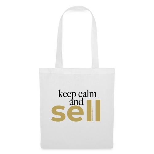 Keep calm and sell - Stoffbeutel