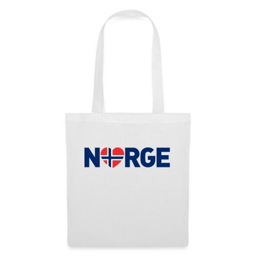 Elsker Norge - fra Det norske plagg - Stoffveske