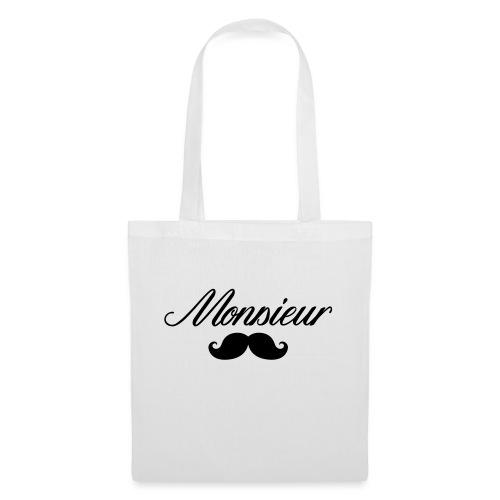 monsieur moustache logo - Sac en tissu