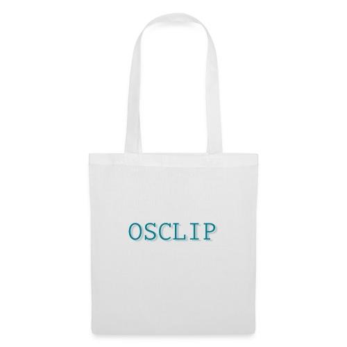OSCLIP simple text - Tygväska