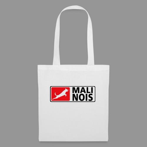 Malinois logo fuer weissen Grund - Stoffbeutel