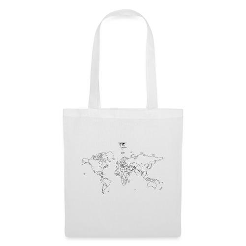 Weltkarte - Stoffbeutel