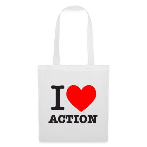 ich liebe action - Stoffbeutel