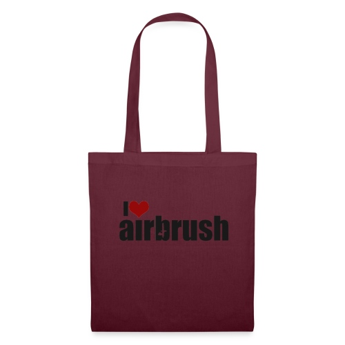 I Love airbrush - Stoffbeutel