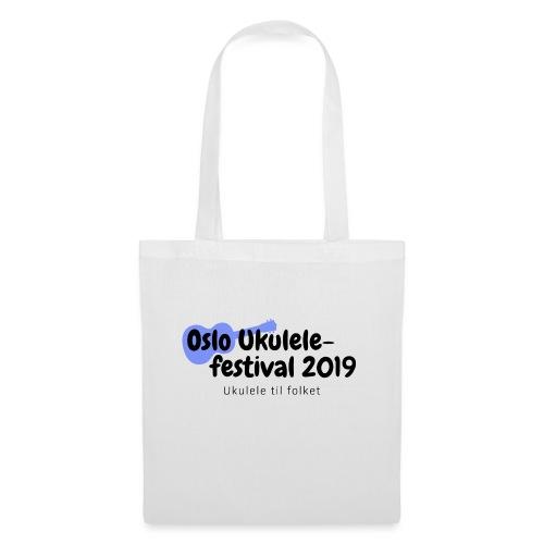 Oslo Ukulelefestival 2019 i svart - Stoffveske