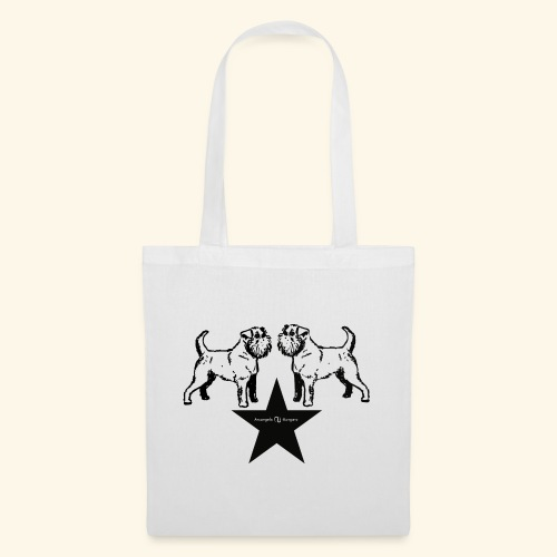 Brussels Griffon Logo - Tote Bag