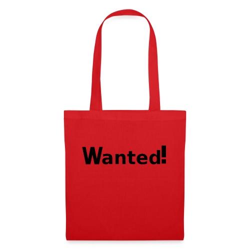 Wanted. schwarz - Stoffbeutel