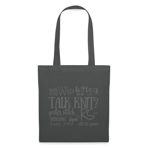 Talk Knit ?, gray - Tote Bag