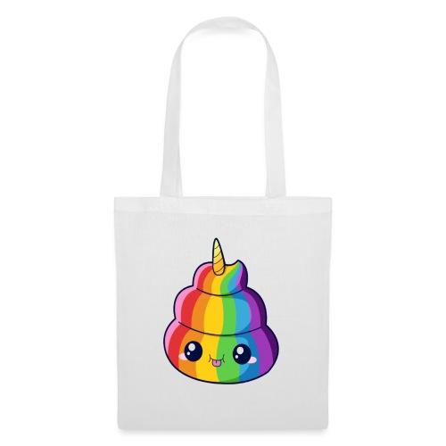 Poop unicorn emoji - Bolsa de tela