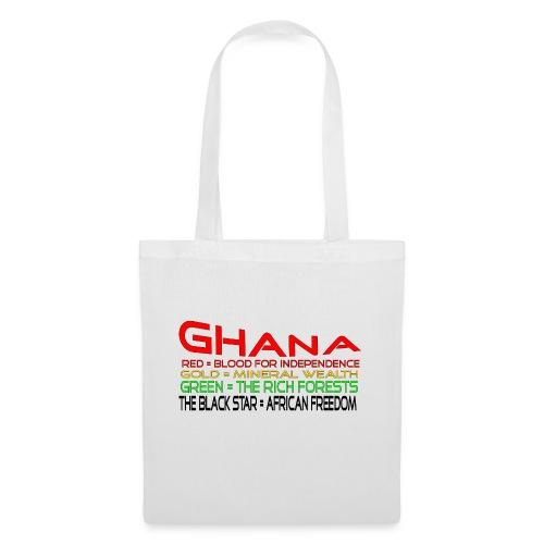 ghanaflagtext - Tote Bag