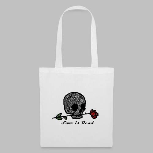 Love Is Dead Custom Skull Design - Tas van stof
