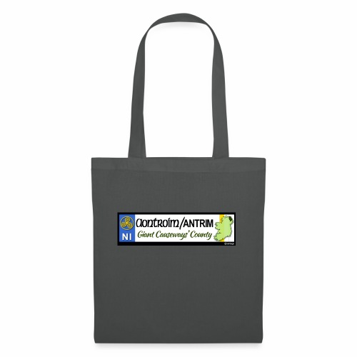 CO. ANTRIM, NORTHERN IRELAND licence plate tags - Tote Bag