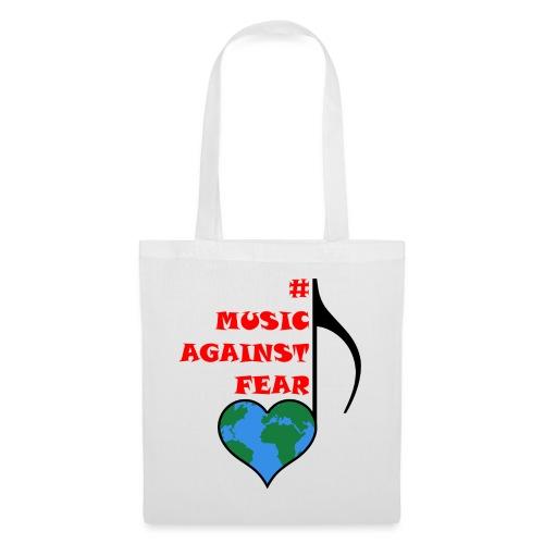 #MusicAgainstFear - Schwarz - Stoffbeutel