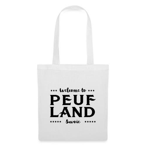 Peuf Land 73 - Savoie - Black - Tote Bag